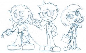 Character concepts for EVP