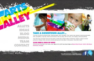 Arts in the Alley's new website!